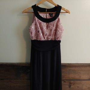 En focus Studios Pink and Black Dress